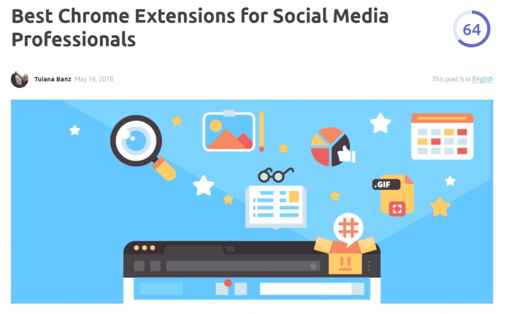 chrome extensions for social media